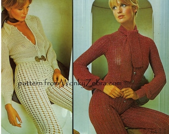 Vintage Crochet Gaucho Suit Pattern PDF 616 from WonkyZebra