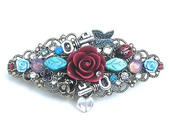 The Rose Garden Crystal Barrette