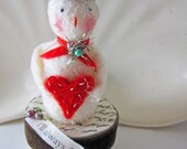 Snowmen I'll Always Heart  You Says this Tiny Christmas Vintage Inspired Snowman No. 6