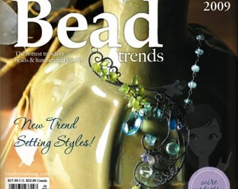 NEW Bead Trends Magazine March 2009 SBC