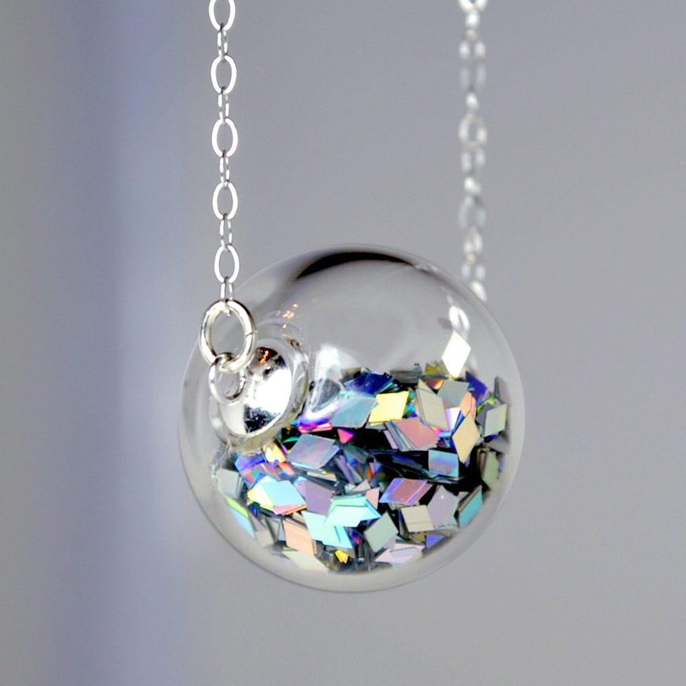 Prism Glitter Hand Blown Glass Ball Silver Necklace By. Spiritual Bracelet. Kays Engagement Rings. Rock Crystal Earrings. Aqua Marine Pendant. Necklace Designs Gold Jewellery. Markie Diamond. Old Wedding Rings. August Rings