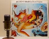 "Dire Straits Vinyl Record Album 1980s British Cinematic Pop Pub Rock Mark Knopfler LP, ""Alchemy: Dire Staits Live""(Orig. 1984 WB)"