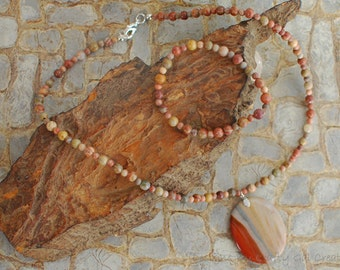 Succor Creek Jasper necklace and bracelet
