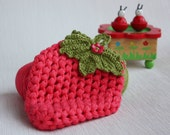 Organic bath mitt of nettle - Strawberry