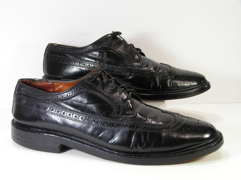 black wingtip dress shoes mens 10 d c oxford brogue leather