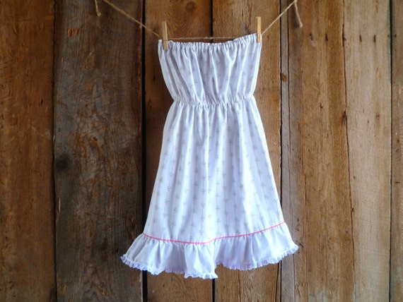 womens upcycled dress // pure & simple strapless dress // size xs/s