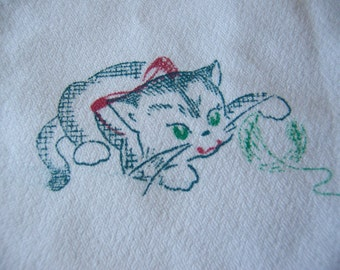adorable kitty towel number three