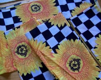 checker board cloth napkins