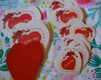 lots of hearts vintage paper ephemera