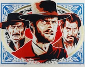 Stenciled the Good, the Bad and the Ugly Print