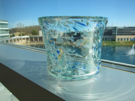 Slumped Glass Vase