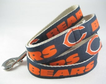 Chicago Bears NFL hemp dog leash