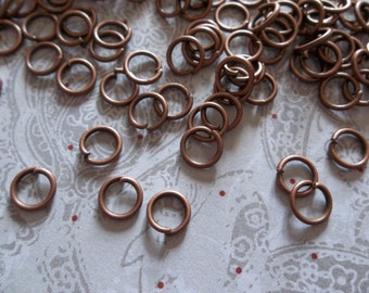 Antiqued Copper Round 18 gauge Jump Rings 6mm - Qty 142 Pieces