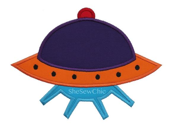 UFO Machine Applique Embroidery Design (UFO1 013)