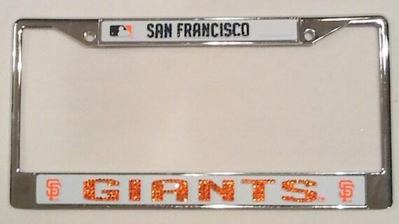 San Francisco Giants Crystal License Plate Frame