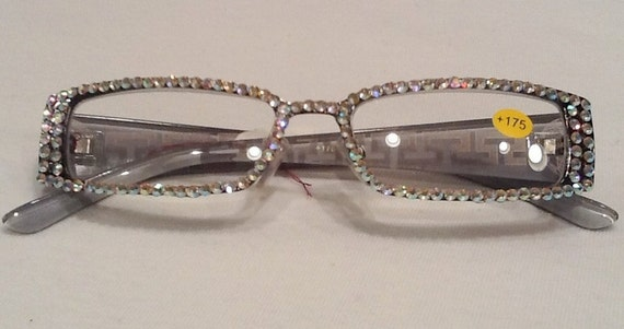 Crystal Reading Glasses With Ab Swarovski Crystals Stones