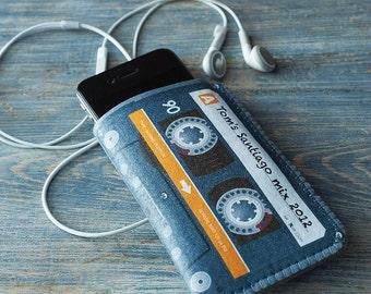 Samsung Galaxy S7 Case, Samsung Galaxy S6 case, Samsung Galaxy S5 Case - Mix Cassette Tape - Personalised