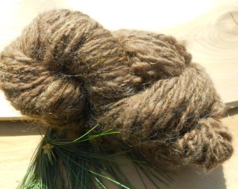 Handspun Brown Finnish Yarn: The Miller's Daughter