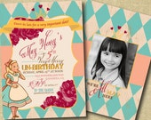 birthday invitation- alice in wonderland
