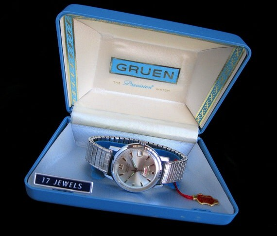 RESERVED - RESERVED for Brad - Gruen Watch - Precision Day/Date Automatic - With Box