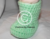 Baby Boot Booties PDF Crochet Pattern Newborn to 12 months Instant Download