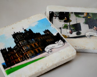 Downton Abbey coasters set of 4