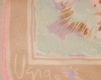 Vera Scarf, Sheer, Brown/Pink/Blue