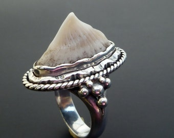 Sterling Silver Sting Ray Ring - Handmade Sterling Silver Stingray Spine Statement Ring - Custom Made Ring