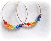Chasing Rainbows - Swarovski Earrings - Chakra - Pride
