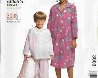 McCall's Easy Pattern 3003 Sz XS 3-4, S 5-6