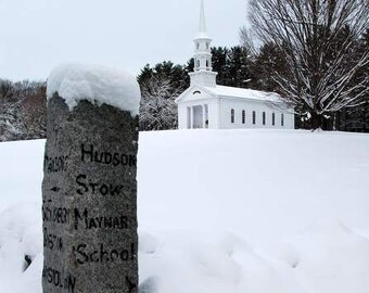 Winter Photography, Martha Mary Chapel, Winter Scenes Prints, White Chapel Sudbury MA Snowy Day, New England Church Prints, Winter Photos