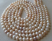 1/2 Strand - Creamy White Freshwater Potato Pearls (All Natural)  -  8mm -  High Luster - Beautiful