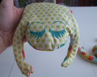 """Lavender Scent Aromatherapy Bean Bag Frog Personalized 13"""" X 10"""""""