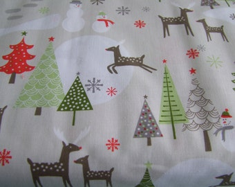 Taupe Christmas Fabric by the Yard A Merry Little Christmas Zoe Pearn  Riley Blake Designs