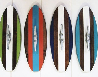 Surfboard Wall Hook with Boat Cleat