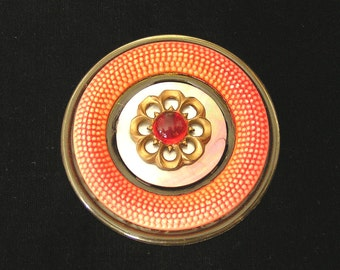 Stacked Pin with early 1900s Celluloid Button and Buckle