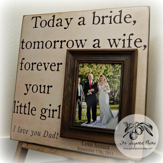 Wedding Gift For Dad From Son : Bride Gift, Father of Bride, Parents Thank You, Parents Wedding Gift ...