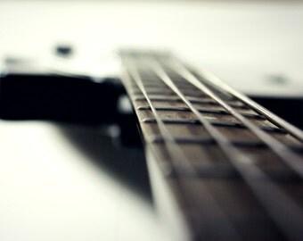 Gretsch Bass Guitar Photography Print, Music Wall Art, Musical Instruments, Bassist, Rock and Roll