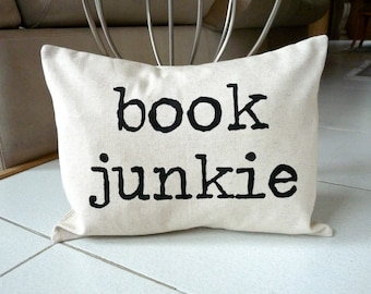 Personalised Modern Pillow Case -  Hand Painted on Natural Cotton Canvas Pillow Cover - 12 x 16 Pillow Cover