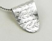 Silver Pendant, Silver necklace, Shield necklace, Unique Handmade Jewelry, Eco Friendly