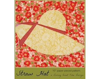 Straw Hat Paper Pieced Pattern