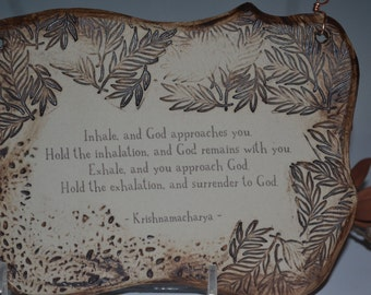 Wonderful Krishnamacharya Quote Ceramic Plaque