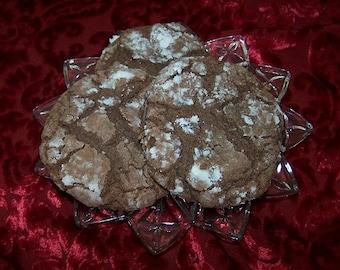 Chocolate Krinkle Cookies ( 1 Dozen )