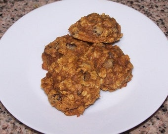 Pumpkin Oatmeal Chocolate Chip Cookies ( 1 Dozen )