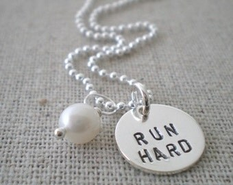 run hard necklace