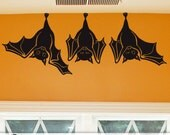 Animal Wall Decal: Cute Hanging Bats, not just for Fall Decorations, Hanging Bats Wall Decal, Halloween Decorations