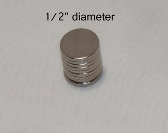 "Rare Earth, Neodymium, Neo, N35 Magnets 1/2"" dia. Super Strong, Shiny perfect for DIY Crafting 50 Pcs"