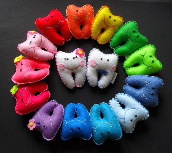 Mini Colorful Tooth Fairy Pillows Personalized