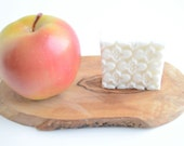 Fresh Apple Square Goat's Milk and Shea Butter Handmade Soap-Natural