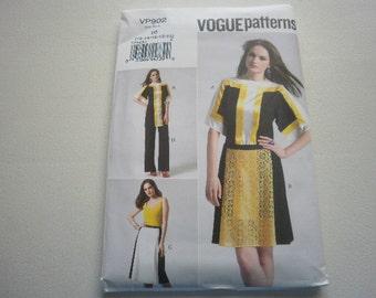 Pattern Women Dress Skirt Pants Tunic Sz 12 to 20 Vogue VP902 A